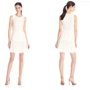 CeCe Lace Flare Sleeveless tiered scallop Dress 2